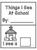 """I See"" Predictable Interactive Book [September School Theme]"