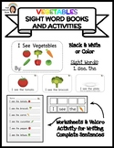 """I See Vegetables"" Sight Word Book & Activities"