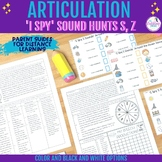 'I Spy' Articulation Sound Hunt for /s,z/