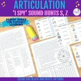 'I Spy' Articulation Sound Hunt for /s,z/