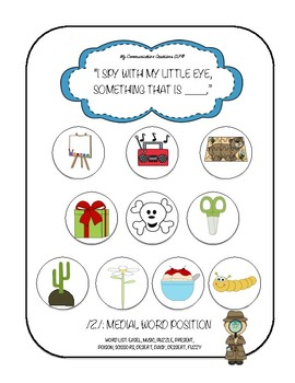 'I Spy' Articulation Worksheets for /Z/ – All Word Positions SLP Speech Therapy
