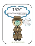 'I Spy' Articulation Worksheets for /Z/ – All Word Positions