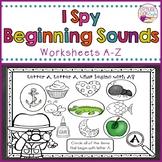 """Beginning Sounds """"I Spy"""" Worksheets"""