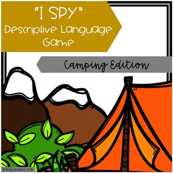 """I Spy"" Descriptive Language Game - Camping Edition"