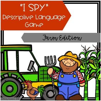"""I Spy"" Descriptive Language Game - Farm Edition"