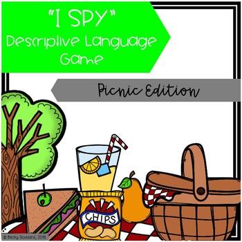"""I Spy"" Descriptive Language Game - Picnic Edition"