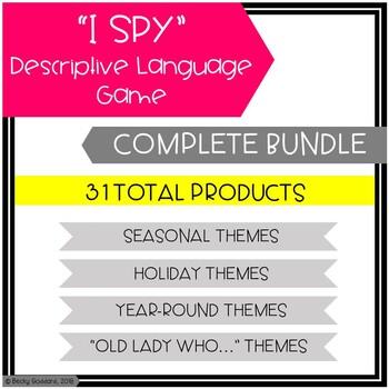 """""""I Spy"""" Descriptive Language Games GROWING BUNDLE"""