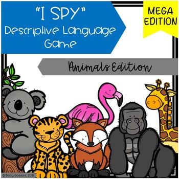 """I Spy"" Descriptive Language MEGA Game - Animal Edition"