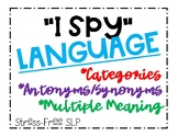 """I Spy"" Language"
