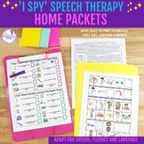 'I Spy' Speech Therapy Home Packets - Distance Learning