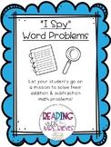 """""""I Spy"""" Word Problems"""
