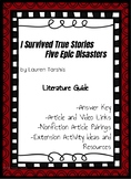 - I Survived True Stories - 5 Epic Disasters Literature Unit