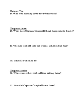 """I Survived the Battle of Gettysburg"" Comprehension Questions"