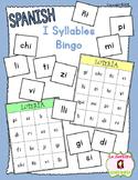 Bingo Game: Reading I Syllables (Spanish)