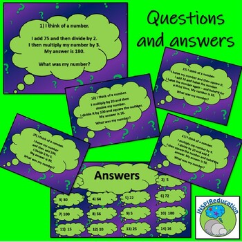 """I Think of a Number"" - multistep, multimethod problem solving with number"