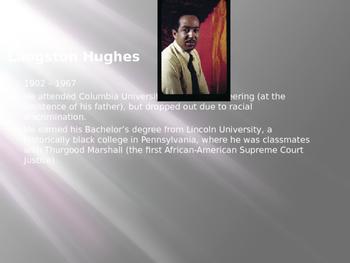 """I, Too, Sing America"" Langston Hughes PowerPoint"