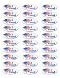 """I Voted""- stickers"