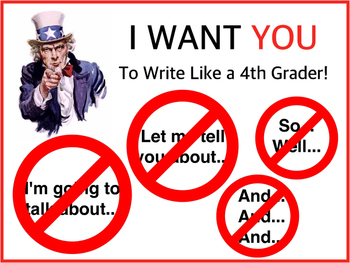 'I WANT YOU!' Writing Poster