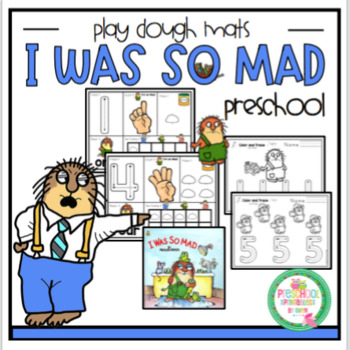 """I Was So Mad"" Play Dough Mats"