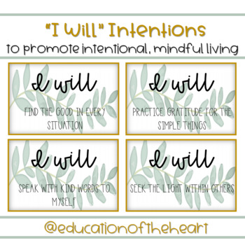 """""""I Will"""" Intentions"""
