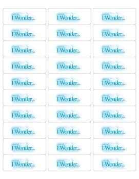 """""""I Wonder..."""" Stickers"""