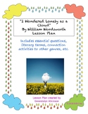 """I Wondered Lonely as a Cloud"" Lesson Plan"