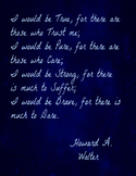 """I Would Be True""-Howard A Walter Poem Excerpt Printable"