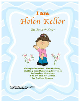 """ I am Helen Keller"" Brad Meltzer - Comprehension, Writing and More"