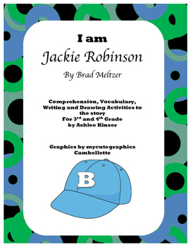 """I am Jackie Robinson"" by Brad Meltzer - Vocab, Comprehension, Writing and More"