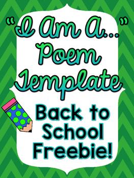 """Back To School """"I am..."""" Poem - FREEBIE"""