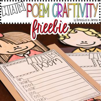 """I Am"" Poem Craftivity (Boys & Girls) - Poetry for Kids"