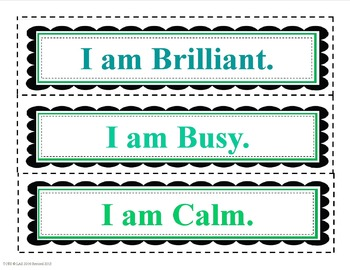 """I am"" Positive Character Traits"