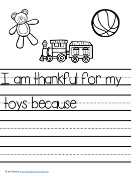 """I am Thankful"" Journal Prompts (Perfect for Thanksgiving or any time!)"