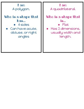 """""""I am, Who is"""" Shapes"""