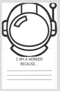 """I am a wonder because..."" Writing/Social Emotional CRAFTIVITY!"
