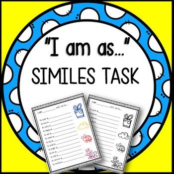 """I am as..."" Creative Similes Task (Great Lesson/ Literacy Center Idea)"