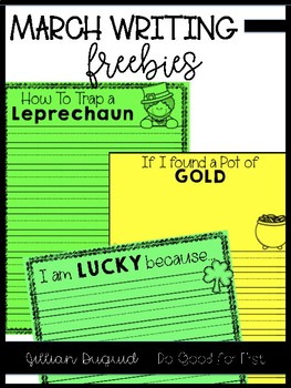 """I am lucky because..."" Writing Paper"