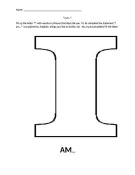 """""""I am..."""" self description activity"""