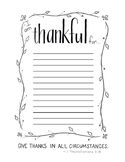 """I am thankful for..."" Printable"