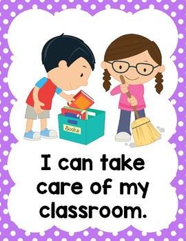 'I can...' Classroom Rules - Positive Behavior Posters