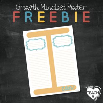 Growth Mindset Poster/ T-Chart FREEBIE