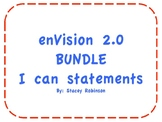 """I can"" Statements ~ enVision Math 2.0 ~ First Grade BUNDLE"