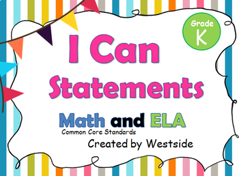 """I can/We can"" Mini Posters/Half-Size Statements:Kindergarten (399 page Bundle)"