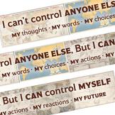 """I can control myself"" printable banner map travel theme classroom decor"