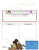 """""""I can do it!"""" Behavior Tracking Chart"""
