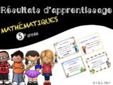 ''I can'' statements (French) - 5e année mathématiques Alberta