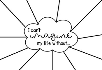 'I can't imagine my life without' TEMPLATE