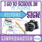 """First Day of Homeschool Sign, """"I go to school in my pajama"""