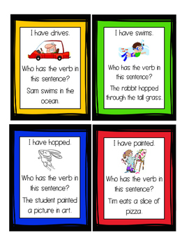 """""""I have, Who Has?"""" Verbs"""