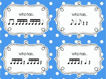 """I have...Who has...?"" - A Kodaly Rhythm Game/Substitute Tub Resource"